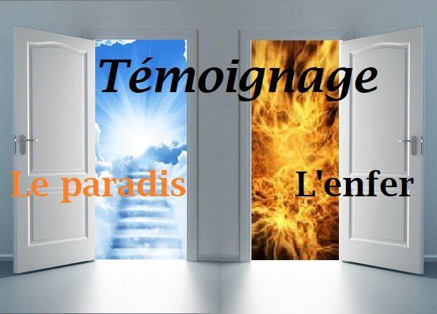 Témoignage de l'enfer et du paradis